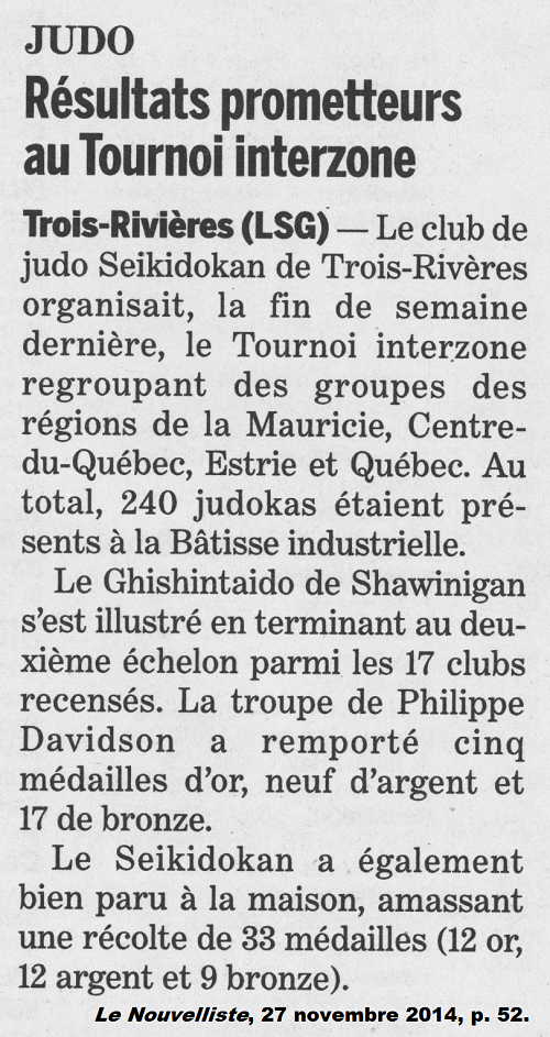 Article de journal l'Interzone Mauricie 2014